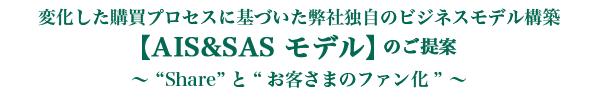 【 AIS&SAS モデル 】のご提案